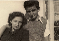 At the age of 14 with his mother, Vered